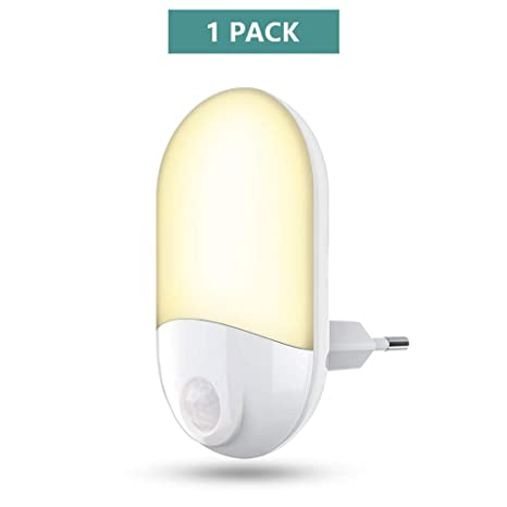 Luces de noche LED Enchufe en la pared, 30 lúmenes Luz de noche brillante con
