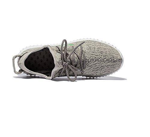 Hommes Unisexes Couple Léger Lace Up Mode Sneakers Respirant Courir Chaussures De Sport Gris