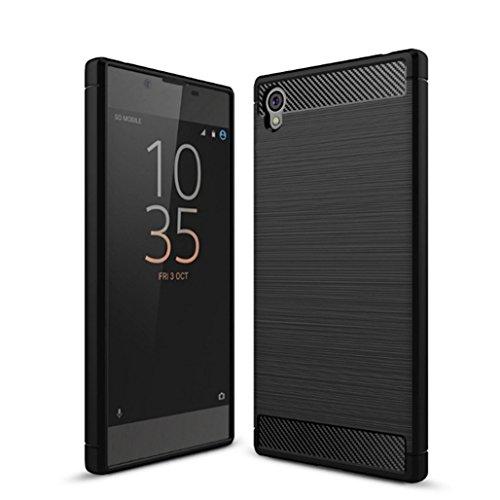Funda Sony Xperia E6,Funda Fibra de carbono Alta Calidad Anti-Rasguño y Resistente Huellas Dactilares Totalmente Protectora Caso de Cuero Cover Case Adecuado para el Sony Xperia E6 A