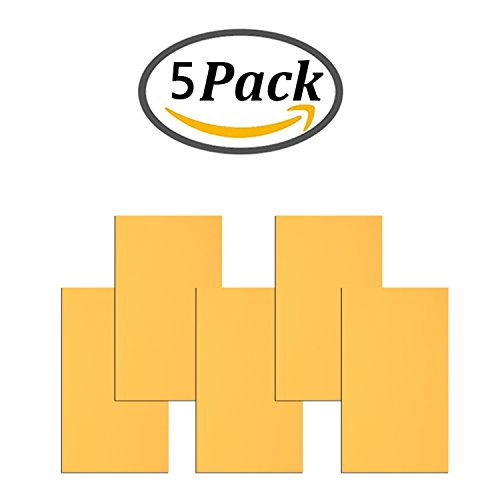 Leather Repair Patch Adhesive 5 Pieces First Aid Patch for Sofa Car Seat Handbag Jackets (Yellow, Plain) (Vinyl Seat Yellow)