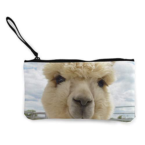 TLDRZD Women's Fluffy Alpaca Purse Clutch Bag Card Holder