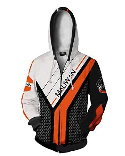 Skycos Men's Lands of Border Cosplay 3D Printed Full Zip up Coat Halloween Jacket Hoodies Hooded Pullover Sweatshirts Aldult Unisex (XL, Color 2) -