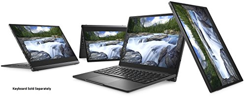 Dell Latitude 12 7000 7285 2-IN-1 Business Tablet: 12.3in Gorilla Glass TouchScreen (2880x1920), Intel Core i7-7Y75, 256GB PCIe NVMe M.2 SSD, 16GB RAM, IR Camera, Windows 10 Pro (Renewed)