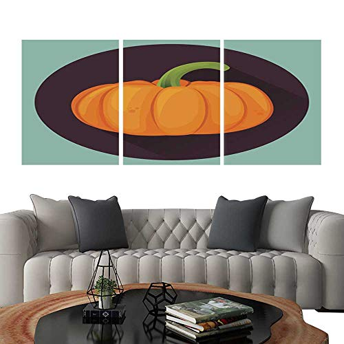 UHOO Triptych Paintings Combination DecorativePumpkin for Halloween Pumpkin Isolated on White Vector Illustration Bedroom,Hotel so on 24