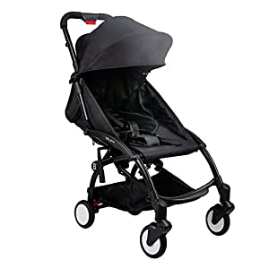Babygrace Ultra Lightweight Baby Stroller Folding Infant Stroller Travel System Anti-Shock Umbrella Stroller (Black)