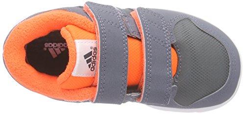 adidas LK Trainer 6 CF I - Zapatillas Para Niños, Color Negro/Blanco/Gris Gris / Naranja