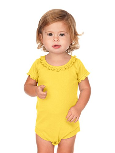 Kavio! Infants Sunflower Short Sleeve Onesie Yellow 6M ()