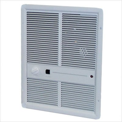 TPI F3316TSRPW Series 3310 Fan Forced Wall Heater with Summer Fan Switch, In-Built Single Pole Thermostat, White, 19.2 Amp, 4000W