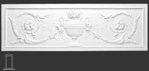 Orac Pediment 39'' Wide x 12 1/2'' High Shabby French Chic for top of door, window, or as wall decoration Primed White Polyurethane #D140 by Orac Décor