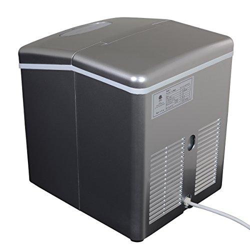 NewAir AI-100S 28-Pound Portable Ice Maker, Silver