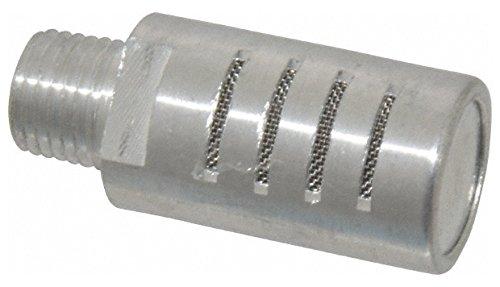 1/4 Male NPT, 5/8'' Hex, 1-7/8'' OAL, Muffler 300 Max psi, 30 CFM, Aluminum by Jupiter Pneumatics