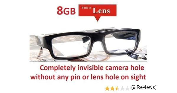 03fed7d1ae140 Hidden Camera Glasses NO PIN or LENS HOLE 8GB Memory Invisible Micro HD  Video Camera Surveillance Wearable DVR Eyewear Spy Cam  Amazon.ca  Camera    Photo