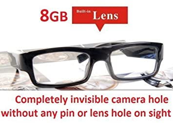 Hidden Camera Glasses NO PIN or LENS HOLE 8GB Memory Invisible ...