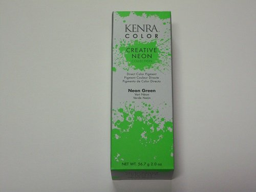 neon green hair dye permanent - 9