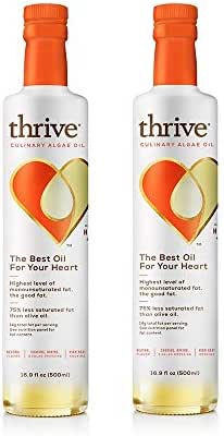 Thrive Culinary Algae Cooking Oil, 16.9 Ounce (Pack of 2)