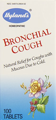 Hyland's Bronchial Cough Relief Tablets, Natural Homeopathic Relief of Coughs Due to Colds, 100 Count (Pack of 3)