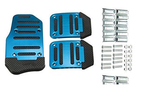MD Group Treadle Pedals Cover Car Foot Non-slip Footrests Aluminum Alloy 1Set 3Pcs