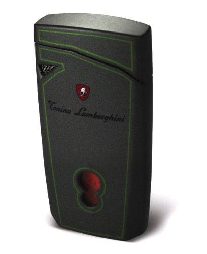 Tonino Lamborghini Magione Metallic Gray With Green Lines Torch Flame Cigar ()