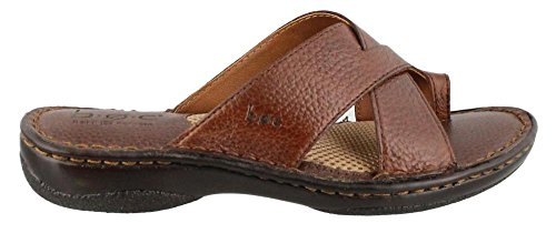 B.O.C. Womens Kalba French Roast Full-Grain Sandal 9ei6ls5