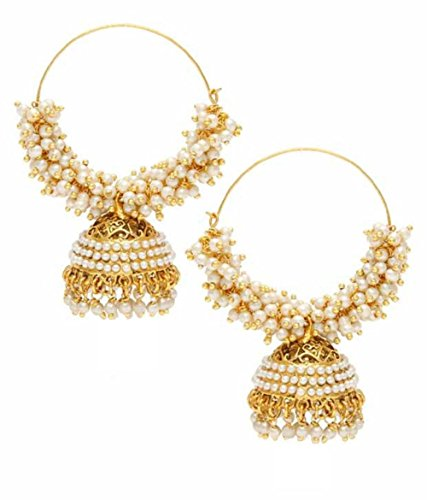 Royal Bling Bollywood Style Traditional Indian Jewelry Hoop Jhumka Jhumki Earrings for Women