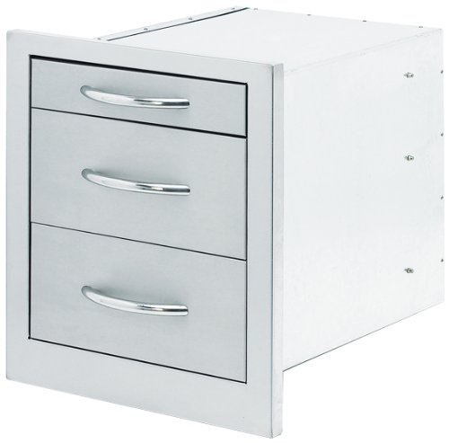Cal Flame BBQ08866 3 Drawer Storage Wide Stainless Steel