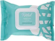 Rooted Beauty Sensitive-Skin Facial Towelettes, 30 Count