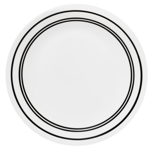 Corelle Livingware Luncheon Plate, 8-1/2-Inch, Classic Caf Black