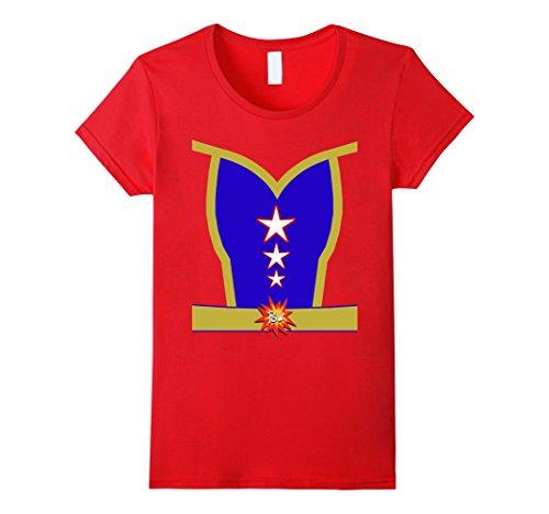 Womens Female Superhero Halloween Costume T-shirt Medium Red (Superhero Halloween Costume Ideas)