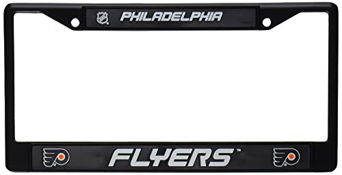 (Rico Industries NHL Philadelphia Flyers Standard Black Chrome License Plate Frame)