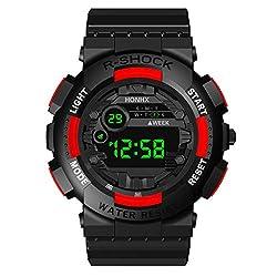 Sodoop Men's Digital Sports Watch, Luxury Mens Digital LED Watch Date, 30M Life Waterproof Sport Casual uminous Stopwatch Alarm Simple Army Watch,Men Outdoor Electronic Watch