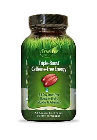 Irwin Naturals Triple-Boost Caffeine-Free Energy All Day Jitter-Free Boost for Brain, Muscles & Adrenals - 75 Liquid - Adrenal Boost