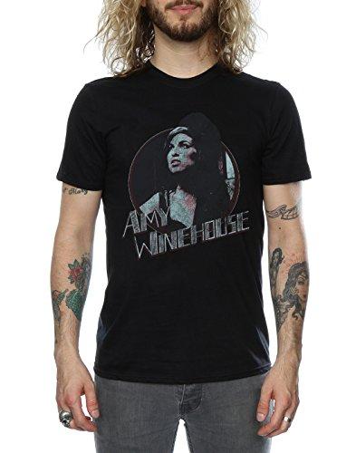 Man Distressed nera T Winehouse shirt Circle Amy wxqxtC8OA