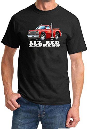 1978 Dodge Lil Red Express Pickup Truck Full Color Design Tshirt Large Black