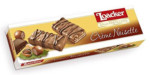 Wafer com Recheio de Creme de Avelã e Cobertura de Chocolate ao Leite Gran Pasticceria Caixa Loacker 100g