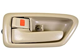 PT Auto Warehouse TO-2562E-LS - Inside Interior Inner Door Handle/Trim, Beige/Tan - Driver Side