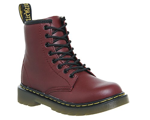Dr. Martens Stiefel mit Reißverschluss innen Junior Delaney Cherry Red Leather