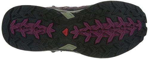 Salomon X ULTRA MID GTX Women Trail Schuhe titanium-mystic purple-hot pink - 38 2/3