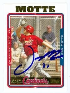 Jason Motte Autographed Baseball (Jason Motte autographed Baseball Card (St. Louis Cardinals) 2005 Topps #UH300)