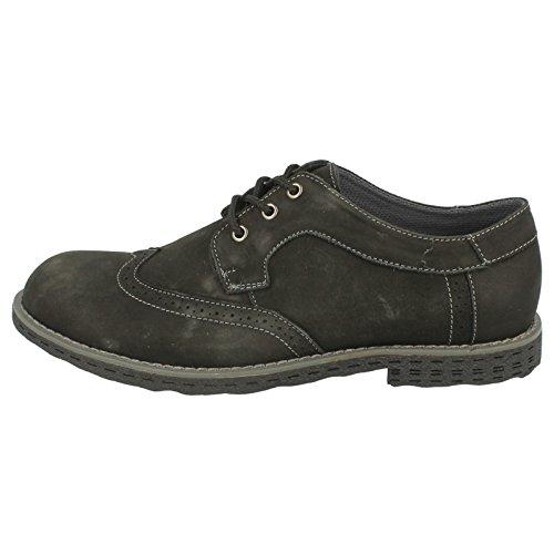 Brogue Smart Maverick Herren Schuhe Casual Schwarz RfpwxZq