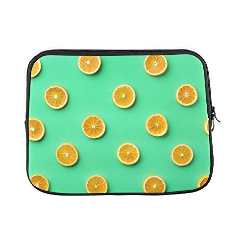 Design Custom Lemon and Orange Clementine Twig Fruits Delicious Winter Vitamin Design Sleeve Soft Laptop Case Bag Pouch Skin for MacBook Air 11