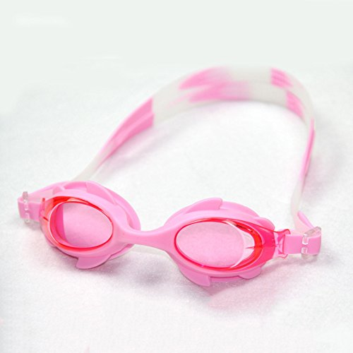 YSBER Children Swimming Goggles Waterproof Anti-fog UV Protection Cute Cartoon Swim Glasses for Boys & Girls(Pink)