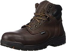 "Timberland PRO Men's 26078 Titan 6"" Waterproof Safety-Toe Work Boot,Dark Mocha,11.5 M"