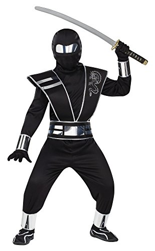 Fun World Silver Mirror Ninja Kids Costume ()