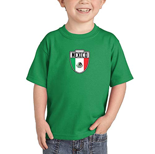 Mexico - Country Soccer Crest Infant/Toddler Cotton Jersey T-Shirt (Kelly, -