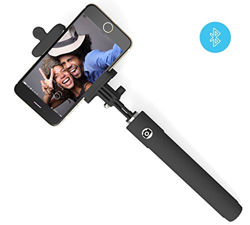 selfie stick perfectday foldable extendable bluetooth selfie stick with buil. Black Bedroom Furniture Sets. Home Design Ideas