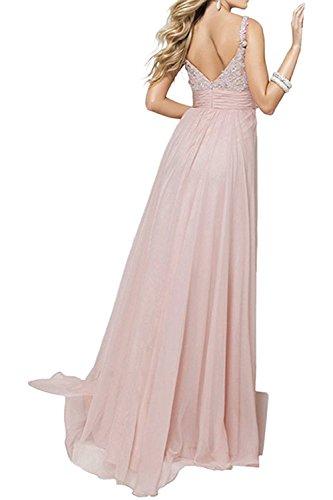 Abendkleider mia Zwei Damen La Brautjungfernkleider Spitze Braut Lilac Traeger Rock Salbei Linie A Lang Partykleider 0dxqU
