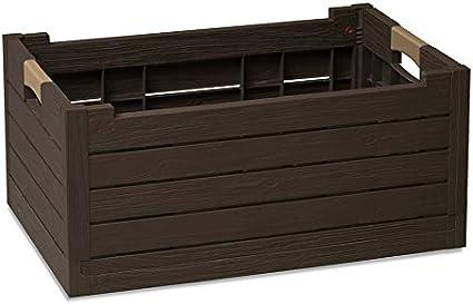 Dea Home Florida Caja Plegable, Plástico, Marrón y Beige, 59x39x28 cm: Amazon.es: Hogar