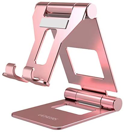 Licheers Adjustable Tablet Stand, iPad Stand: Universal Tablet Holder Compatible with iPad, Surface, Kindle, and Other 4-13 inch Devices (Rose Gold)