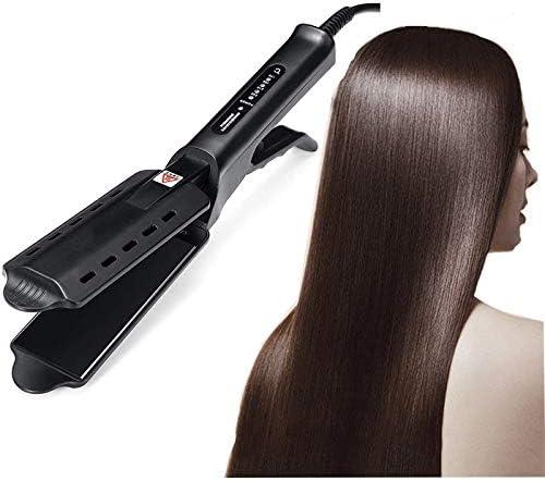 SHRFC Plancha de pelo multifuncional Plancha de Vapor Profesional con Cerámica Turmalin Cepillo alisador eléctrico Práctico