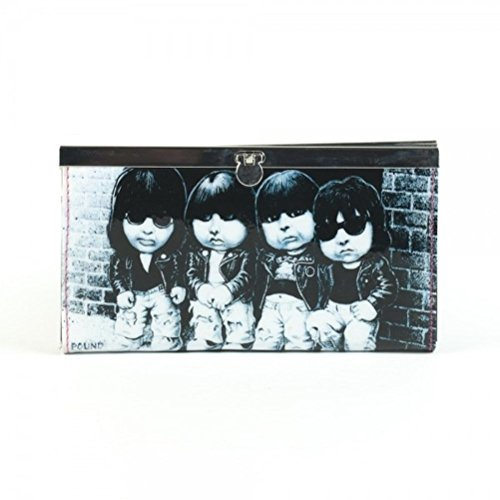 The Ramones Logo & Group Snap Close Hard Case Hinge Clutch Wallet Cell Phone Carrying Case - Ramones Wallet